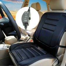 12V Car Van Front Seat Hot Heater Heated Pad Cushion Winter Warmer Cover Black
