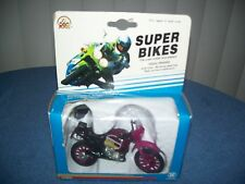 Vintage 1993 Super Bikes Purple Paris # 15 Motorcycle / Dirt Bike by Zee Toys