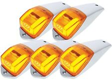 New Look! 5 Roof Cab Marker LED Glo Light Kenworth Peterbilt Ford United Pacific