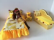 Barbie,Ever After High.furniture Bedroom Set:Bed,sofa,lamp:Beauty and the Beast