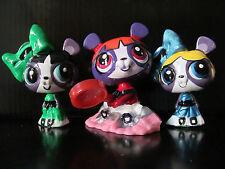 Littlest pet shop lot custom power puff girls hand painted