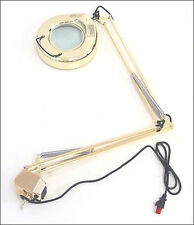 Brass Gold 3 Diopter Magnifier Magnifying Lamp Light Glass Table Desk Clamp