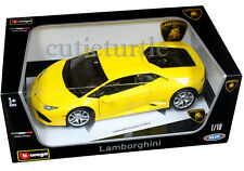 Bburago Lamborghini Huracan LP610-4 1:18 Diecast Model Car 18-11038 Yellow