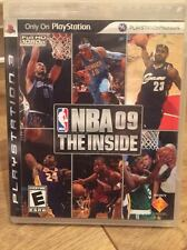 NBA 09: The Inside ~ PlayStation 3 PS3 ~ Complete! CIB! Case, Manual, Disc! VG!!