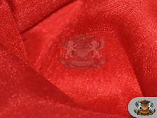 "Satin Shantung Solid Fabric RED / 60"" Wide / Sold by the yard"