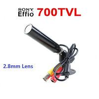 """1/3""""Sony CCD Color 2.8mm Wide Angle Waterproof CCTV Security Mini Hidden Camera"""