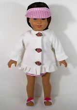 "DOLL CLOTHES FOR 18"" AMERICAN GIRL DOLL SWIMWEAR WITH ROBE SANDALS CLOTHES"