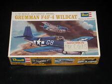 MAQUETTE - GRUMMAN F4F-4 WILDCAT - REVELL - 1/72 - 1965 -  MODEL KIT - COMPLETE