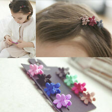 Hot 5Pcs Mixed Mini Small Plastic Flower Hair Clips Hairpin Claws Clamps Beauty