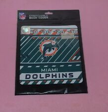 MIAMI DOLPHINS NFL Football Fabric Stretchable up to 8 x 10 BOOK COVER NEW