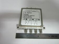 AGILENT HP COAXIAL SWITCH 8763B RF MICROWAVE FREQUENCY #1E-M-4