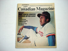 Texas Rangers pitcher FERGIE JENKINS on cover THE CANADIAN magazine June 1 1974