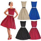 dress50'S 60'S ROCKABILLY DRESS Vintage Style Swing Pinup Retro Housewife Party