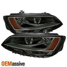Fits Smoked 11-14 Volkswagen Jetta Sedan Headlights Lamps Pair Left+Right Set