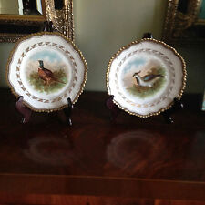 Two Bauer & Pfeiffer, Schorndorf, Cabinet Game Bird Plates Pre-Owned