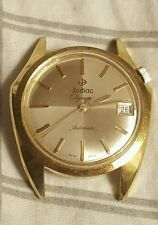 1960 Vintage Zodiac Olympos Automatic Swiss Asymmetrical Men 's Watch RARE