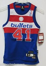 NWT NBA REEBOK SWINGMAN JERSEY - WES UNSELD WASHINGTON BULLETS BLUE YOUTH MEDIUM