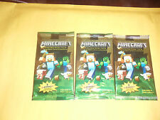 Minecraft Collectible Trading Cards Stickers Packs lot of 3 new 3 stickers jinx