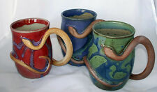 Hand Thrown  Mug with Serpent Handle from Sweetwater Pottery