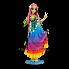 *CHLOE* Gothic Fantasy Hippie Fairy Art Resin Figurine By Myka Jelina (19cm)