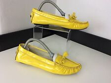 Marc Jacobs Yellow Patent Leather Flats Ballerina Shoes Size Uk 3 36 Bow