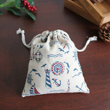 Nautical Wedding Favor Bags Party Celebrations Birthday Pouch Gifts Goody Anchor