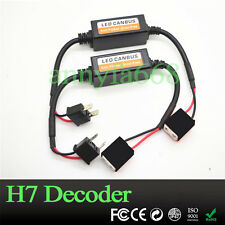 2x H7 LED Headlight Canbus Error Free Anti Flicker Resistor Cancellers Decoders