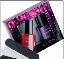 Avon Nailwear Pro+  Real Red Decadence Nail Wear Polish Gift Set BNIB Xmas Gift
