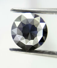 0.40TCW 4.8 MM Round Rose cut Jet Black AAA Color African Natural Loose Diamond