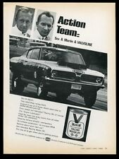 1969 Sox & Martin Barracuda race car photo Valvoline racing oil vintage print ad