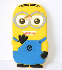 for HTC One M7 -Soft Rubber Silicone Skin Case Cover Despicable Me Yellow Minion