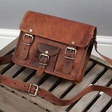 Mens Leather satchel Vintage Leather messenger Bag Shoulder Bag for i Pad