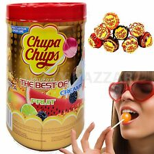 200 Best of CHUPA CHUPS Chup Lollipops Assorted Flavour Bulk Lollies Pops 2 Jar