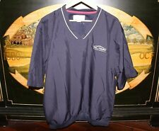 Mens Large Navy Blue Golf Half Sleeve WindShirt Cutter & Buck CALPASC TRILOGY