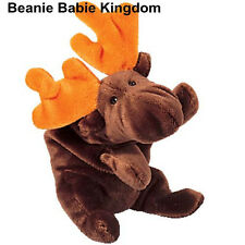 Ty Beanie Babie * Chocolate * el marrón y Naranja antlered Moose