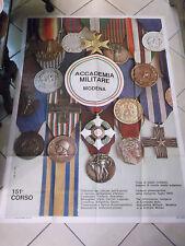 MANIFESTO ACCADEMIA MILITARE DI MODENA 151° CORSO 1969 140 X 100 Cm RARISSIMO