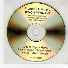 (FU589) Devon Pennant, Lady Of Magic - 2005 DJ CD