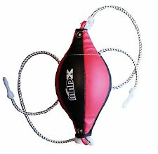 MADX Double End Leather Dodge Speed Ball Boxing Floor to Ceiling Punch Bag MMA