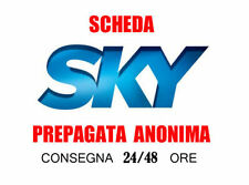 SMART CARD SKY PREPAGATA  SKY TV PIU' CINEMA in HD 15 MARZO 2018