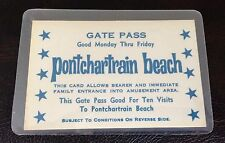 PONTCHARTRAIN BEACH NEW ORLEANS GATE PASS TICKET STUB VINTAGE OLD BALI HAI RARE