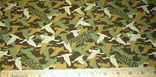 1 yard of GREEN BROWN GOLD DUCK DYNASTY CAMOUFLAGE on 100% Cotton Fabric