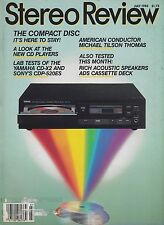 Stereo Review Magazine July 1985 Sony CDP-520ES, Yamaha CD-X2, ADS C3