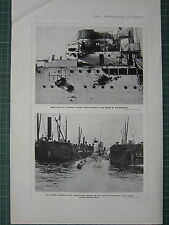 1915 WWI WW1 PRINT ~ RUINS OF ARSENAL BREST-LITOVSK GERMAN SOLDIERS