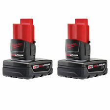 NEW MILWAUKEE 48-11-2412 PACK (2) CORDLESS TOOL BATTERY 12 VOLT REDLITHIUM XC