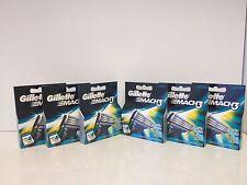 Gillette Mach3 Razor Blades Cartridges 4ct Blades 6 Packs Total 24 Blades