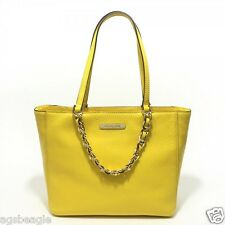 Michael Kors Bag 35S5GRPT3L MK Harper Large EW Tote Leather Citrus Agsbeagle