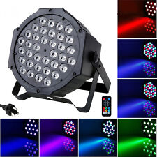36W Par LED PAR CAN Stage Light by IR Remote Control Party Disco DMX512 Lighting