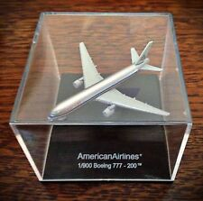 Rare American Airlines Boeing 777 Diecast In Display Case - Scale 1:900