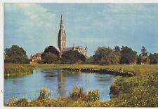 Salisbury Cathedral & River Avon 1969 Postcard 107a