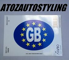 Euro GB Sticker Oval Decals Car Travelling European EU Travel Abroad    NEW